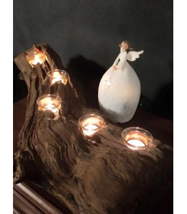 Wooden candle holder - LIGHT