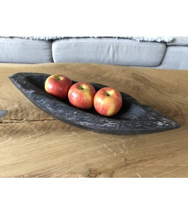 Wooden fruit bowl - BLACK