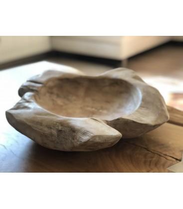 Wooden fruit bowl - BEIGE