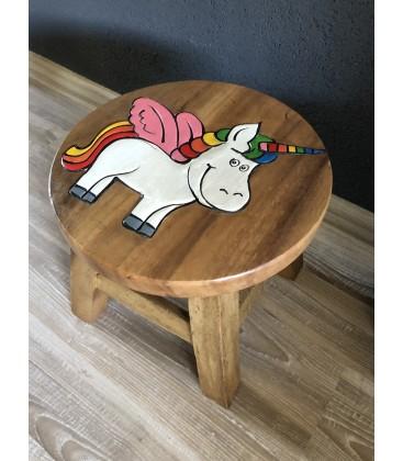 Drevený stolček - UNICORN