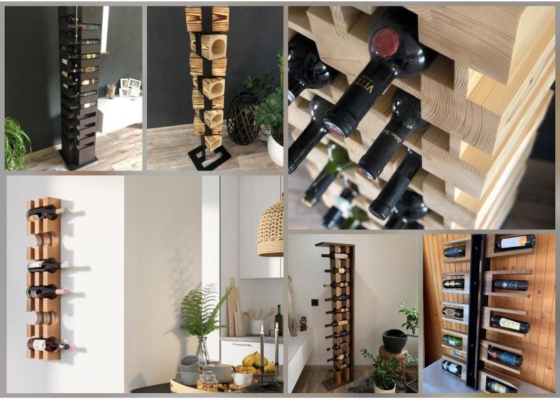 Stojany na víno - dizajnové handmade kúsky