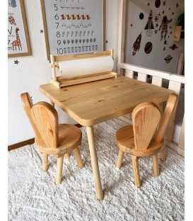 Children's set of table and chairs - BUNNY