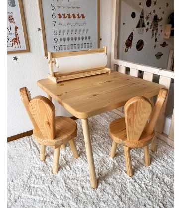 Detský set stôl a stoličky - ZAJAČIKY