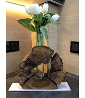 Drevená váza - WHITE